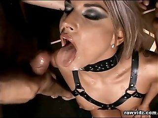 Blonde Sex Slave's Foursome