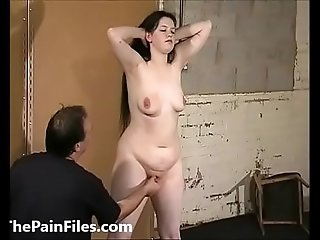Cruel female humiliation and rough domination of bbw bdsm slave Emma in degradin