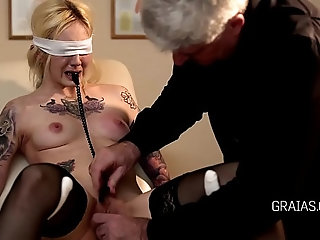 Blonde slave broken