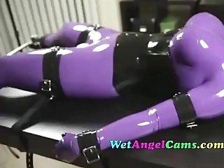 Extreme Camgirl Bondage Forced to Cum o Cam